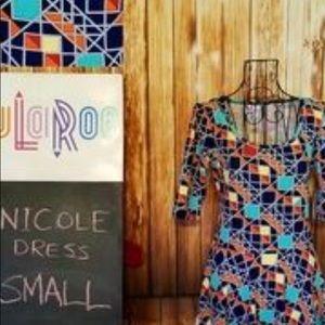 NWT LuLaRoe Small Nicole multi color dress